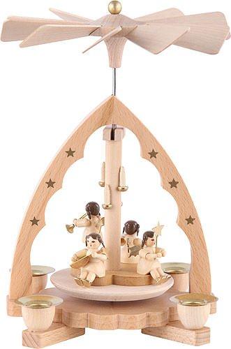 1- tier Pyramid German Christmas Angel concert - 7 inch - 19 cm - Richard Glässer