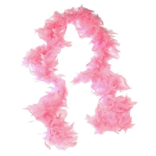 FEATHER BOA/PINK (CP)