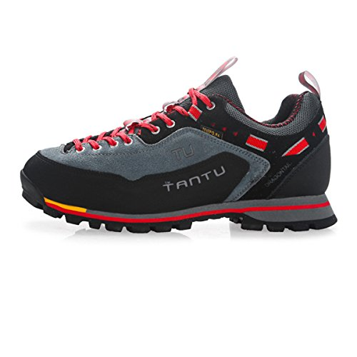 SANANG Hombres impermeables transpirable zapatos de senderismo al aire libre botas de senderismo deporte zapatillas Gris
