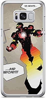Iron Man Retro Theme Samsung S8 Case Transparent edge Jarvis