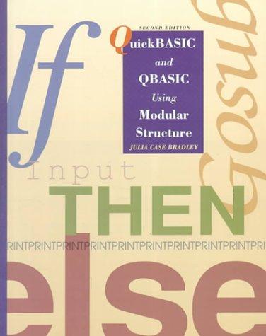 Quickbasic and Qbasic Using Modular Structurebm Version
