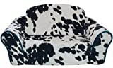 Pet Flys Cowprint with Turquoise Interior Pull Out Pet Sleeper Sofa Bed