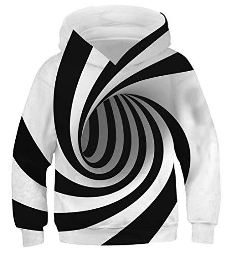 - AIDEAONE Boy's Patterns 3D Print Turbo Hoodies Kids Cool Pullover Sweatshirts
