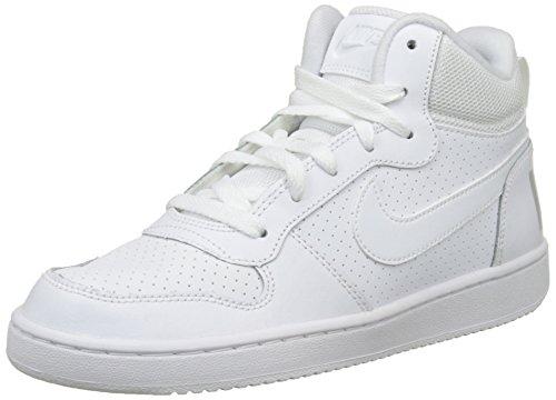 Borough Mid Nike white Bambino Court A Bianco gs Stivaletto Pantofole 5EHTBWqH