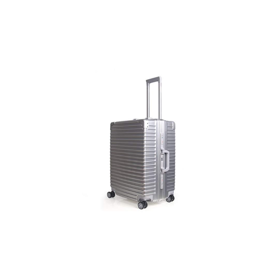 LONG SHOP トロリーケース - アルミフレームUSB充電インターフェースユニバーサルホイール男性と女性旅行ビジネストロリーケース 荷物/トロリーケース (色 : シルバー しるば゜, サイズ さいず : 50*24*35 cm) B07SDN9X7S シルバー しるば゜ 50*24*35 cm