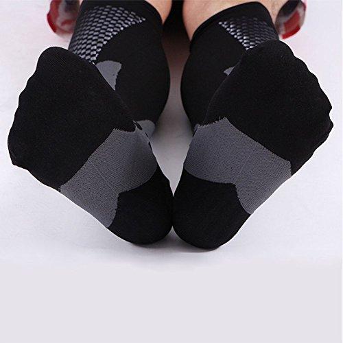3 Pairs Compression Socks for Men and Women Graduated Athletic Socks for Sport Medical, Athletic, Edema, Diabetic, Varicose Veins, Travel, Pregnancy, Shin Splints, Nursing by Yodofa (Image #5)