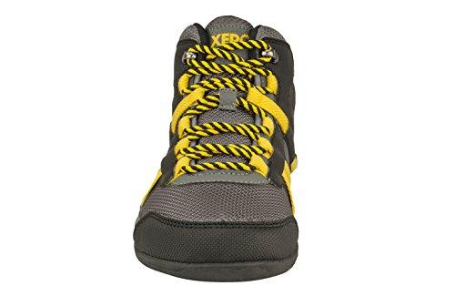 Scarpe Xero Scarpone Da Escursionismo Leggero Da Escursionista Per Uomo - Scarpa Da Trekking Minimalista Ispirata A Piedi Nudi - Suola A Zero Nero / Giallo
