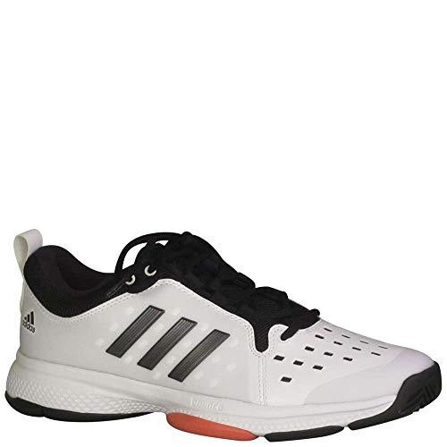 adidas Performance Men's Barricade Classic Bounce Tennis Shoe, White/Night Metallic/Trace Scarlet, 10 M US - Classic Tennis Shoe