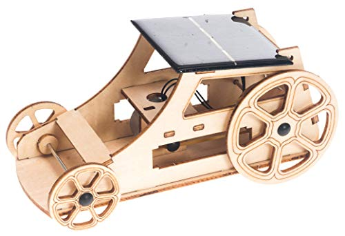 Wooden Solar Car Model Kits to Build - DIY Educational Science Kits for Kids Age 8-12 - 3D Puzzles Robotics Building Toys STEM Kit for Boys and Girls, Teens and Adults