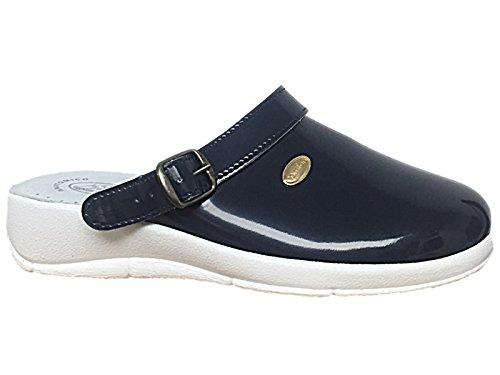 Foster Footwear Women's Max Relax Clog Col Blu HIHUEBtL