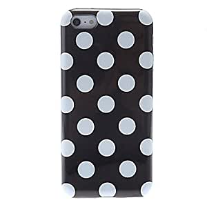 Simple Design Round Dots Pattern Silicone Case for iPhone 5C (Assorted Colors) --- COLOR:Blue