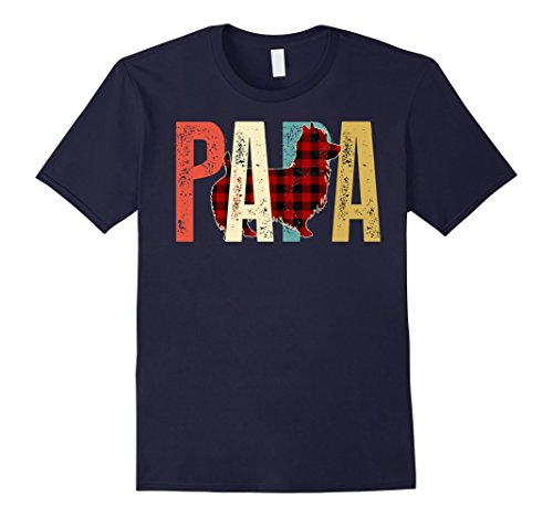 Mens Papa Australian Terrier T-Shirt For Australian Terrier Lover Small Navy