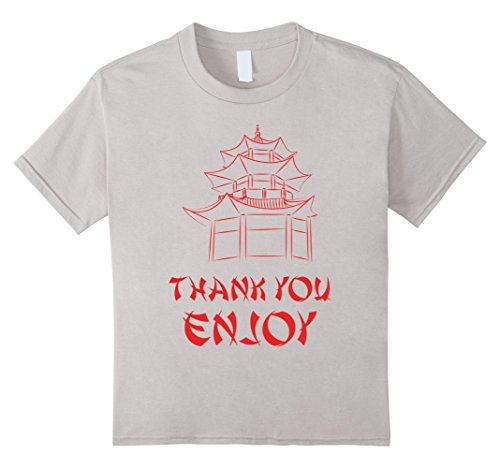 [Kids Chinese Takeout T-Shirt 6 Silver] (Chinese Food Takeout Costume)