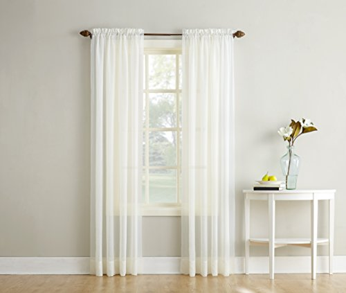 Crushed Panel (No. 918 Erica Crushed Texture Sheer Voile Curtain Panel, 51