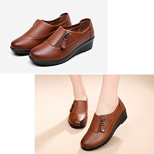 LIANGJUN Women's Shoes Ankle Boots Spring Winter Outdoor, 2 Colors Available, 9 Sizes (Color : Dark brown, Size : EU42=UK7.5=L:260mm) Yellow brown