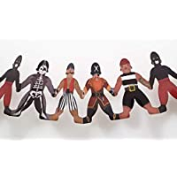 Delightful Paper Doll Chains - Set of two Paper pirates garlands