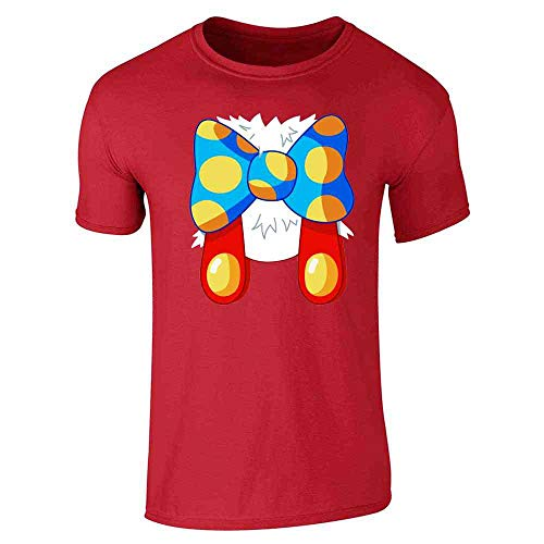 Cartoon Rabbit Costume Halloween Red L Short Sleeve T-Shirt -