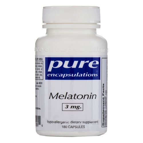 Dietary Supplement pur Encapsulations mélatonine hypoallergénique - 3 mg, 180 Capsules