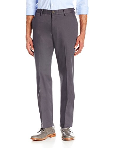 Goodthreads Men's Straight-Fit Wrinkle-Free Dress Chino Pant, Grey, 28W x 28L