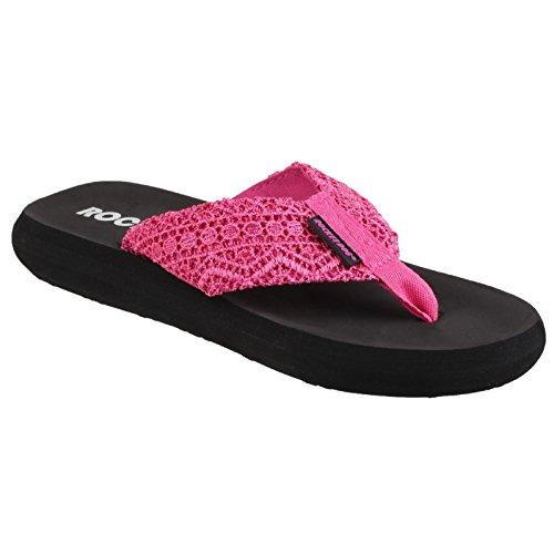 (Rocket Dog Womens Spotlight Lima Slip On Sandal Pink Size UK 7 EU 40)