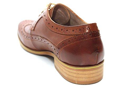 G0936T - Richelieus élégantes en cuir - lacets - homme - brun