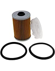 DVPARTS Fuel Filter & Disc Filter Disk Kit for Mercury Marine Mercruiser 35-866171A01 Quicksilver 8M0093688 35-892665 Fit MerCruiser Engines with Gen III 3 Fuel Cooler