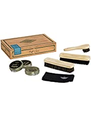 Gentlemen's Hardware Premium Classic 7-Piece Shoe Shine, Polish, and Cleaning Kit with Wooden Cigar Storage Box, Wood