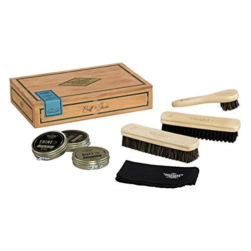 wood shoe shine kit - 9