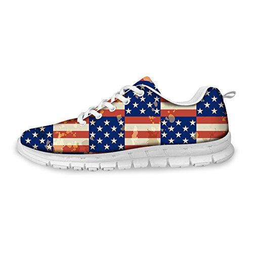 Men Flag US Pattern UK Sneaker Shoes CHAQLIN Outdoor 2 Women Running pattern Fashion Sport 8Z1C6wqF