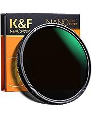 K&F Concept 77MM Variable ND Filter ND2- ND32 Slim Adjustable Neutral Density Filter ND2-32 Grey Lens Filter NO X Spot for DSLR Cameras