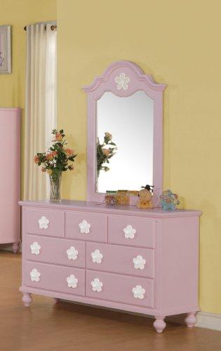 Acme 00740 Floresville Mirror, - Com Pink Mirror