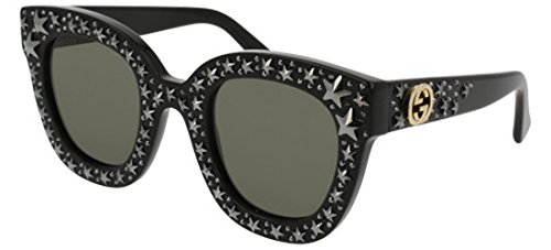 Gucci GG 0116 S- 002 BLACK / SILVER Sunglasses