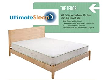 the tenor solid wood bed frame oak maple cherry or walnut in - Maple Bed Frame