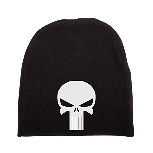 Crazy Baby Clothing White Punisher Skull Infant Baby Beanie Cap Winter Hat One Size, Black]()
