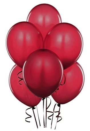 Balloon Sold Single (Qualatex Burgundy Radiant Pearl Latex Balloons, 11-Inch 25 Per)
