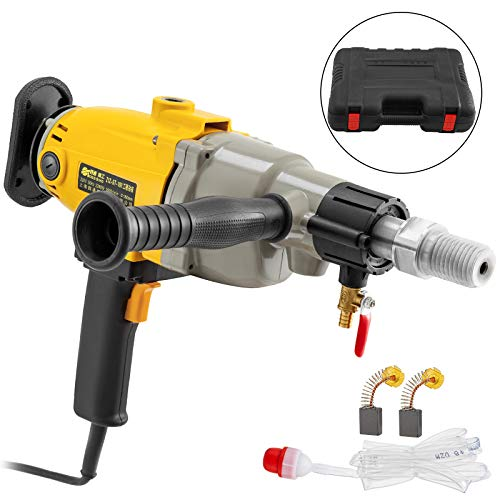 Happybuy Diamond Core Drilling Machine 7 Inch 180 mm Handheld Diamond Core Drill Rig Variable Speed Wet Dry Core Drill Rig Concrete Coring Drill Machine for Diamond Concrete Drilling Boring (7″ 180mm)