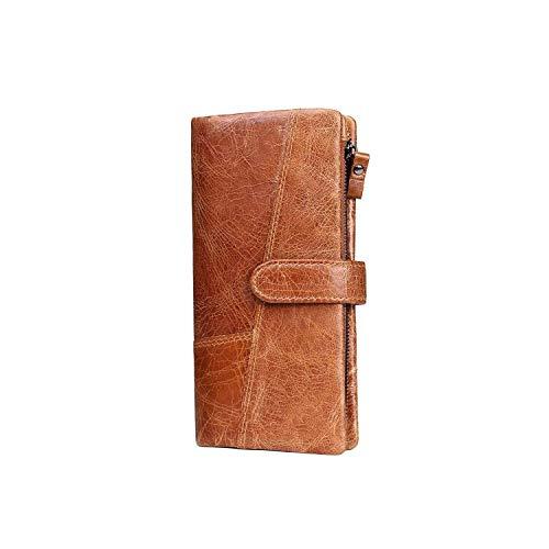 bf62eb36867 KAVIS Genuine Leather Women Wallet Female Long Clutch Lady Wallet  Portemonnee Rfid Luxury Money Bag Magic