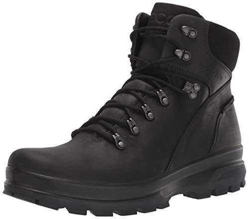 ECCO Men's Rugged Track Hydromax Water-Resistant Plain Toe Boot, Black/Black, 43 M EU (9-9.5 US)