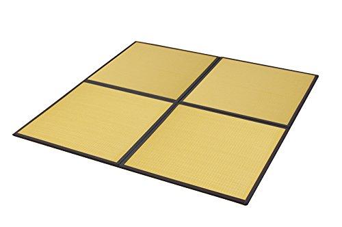 イケヒコ 置き畳 ユニット畳 PP 軽量タイプ 『スカッシュ』 ベージュ 約82×82×1.7cm (4枚1セット) B00KPKIU98 ベージュ
