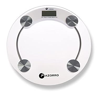 #1 RATED Precision Digital Bath Scale (396 Lbs Edition) - By Azorro - High Accuracy Premium Body Weight Scale