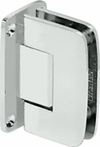 C.R. LAURENCE R0M037SC CRL Satin Chrome Roman 037 Series Wall Mount Full Back Plate Standard Hinge