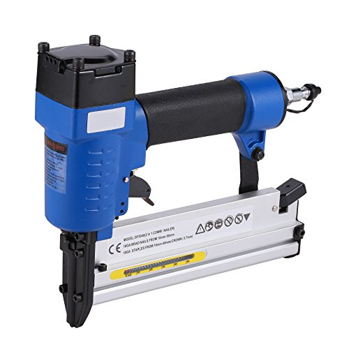 Brad Nailer Gun 2 in 1 Multifunction Air Woodworking Nail Gun18 Gauge 3/4 Inch to 2 Inch BLue by BORNTUN