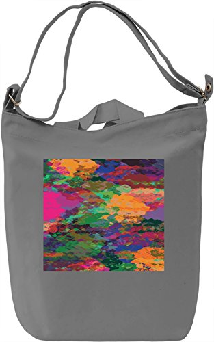 Colorful Abstract Print Borsa Giornaliera Canvas Canvas Day Bag| 100% Premium Cotton Canvas| DTG Printing|