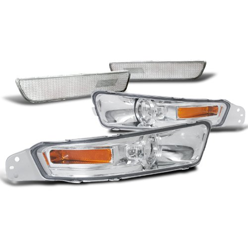 Ford Mustang Clear Front+Rear Bumper Lights Signal Parking Lamp+Amber