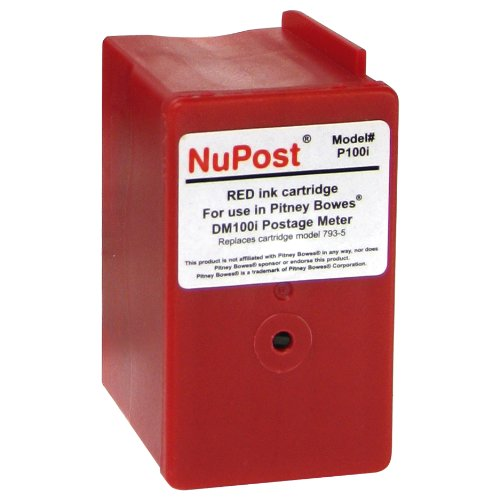 NuPost NPTP700 Compatible Red Ink Cartridge Replacement for Pitney Bowes Postage Meter 793-5 Red