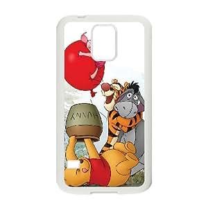 Samsung Galaxy S5 White phone case Disney Cartoon Characters Winnie the Pooh DMU7774971