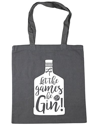 Graphite HippoWarehouse 10 Design Beach Shopping Let Be Games Gin The Grey 42cm x38cm Tote Gym litres Bag Bottle awxH6aq