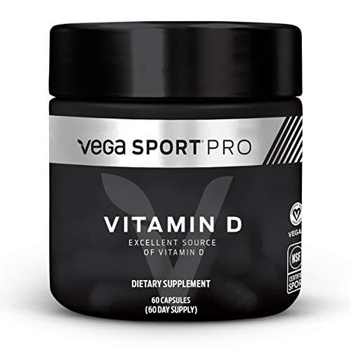 Vega Sport Pro Supplements, Vitamin D 1000 IU, 60 Capsules – NSF Certified, Certified Vegan, Gluten Free Pills (60 Day…