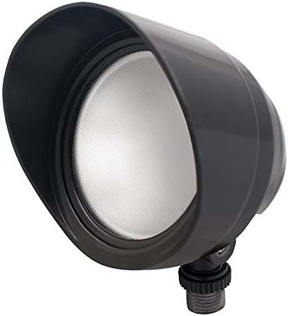 RAB Lighting BULLET12A LED Floodlight, 12W, 120V, 5000K, Bronze