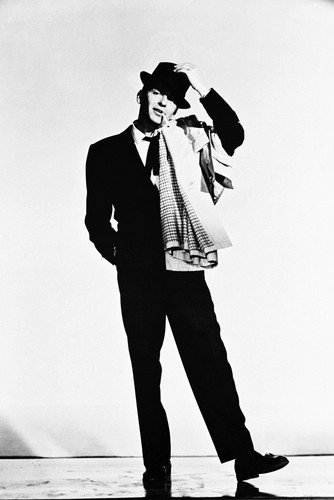 Frank Sinatra 24x36 Poster Classic in Hat & Coat Silverscreen